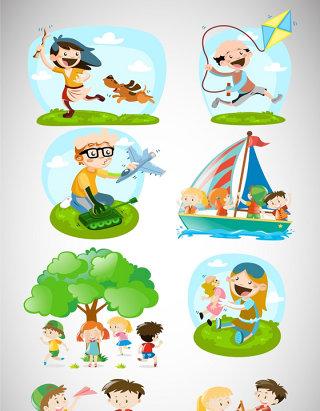 卡通游戏儿童人物