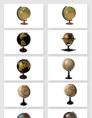 高清免抠真实地球仪