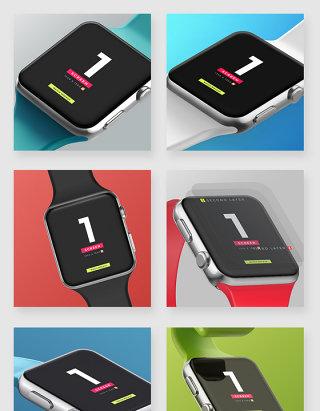 苹果iWatch智能手表展示样机素材