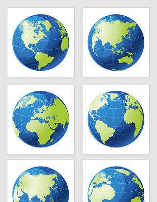 卡通地球仪矢量图形
