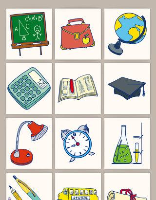 插画教育图标元素矢量图形
