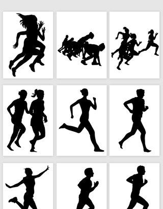 跑步运动一群人跑步