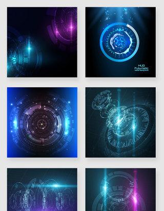 科技未来感炫酷光效可视化素材