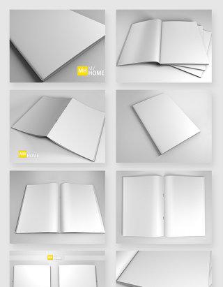 书籍画册周刊空白样机模板素材