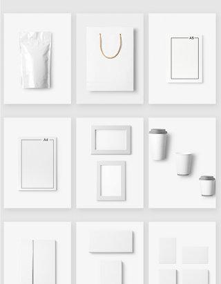 白色产品包装设计展示模板样机素材