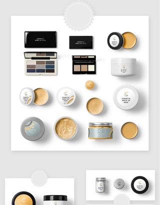 彩妆护肤化妆品包装贴图样机素材