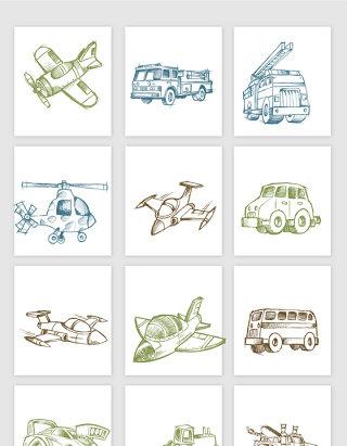 手绘交通线条设计