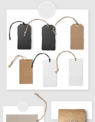 服装吊牌设计贴图样机模板素材