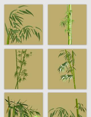 手绘卡通竹子矢量元素