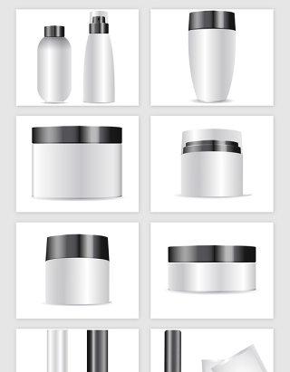 女性化妆品瓶矢量素材