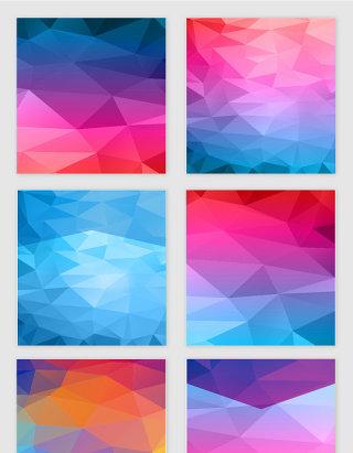 几何渐变低多边形设计元素
