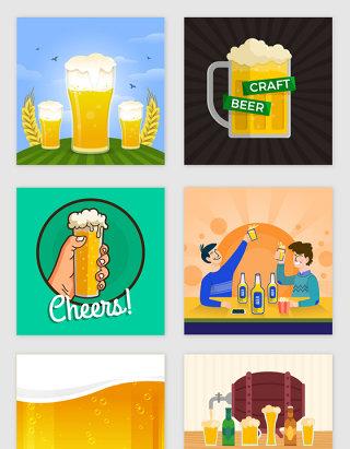卡通啤酒海报设计素材