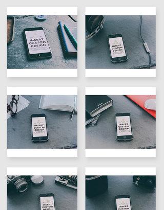 iPhone手机场景智能贴图样机素材