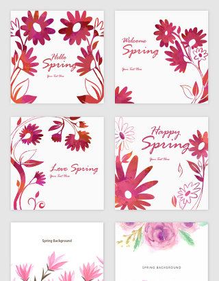 唯美花卉春季开春素材