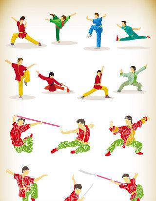 中国武术运动人物素材