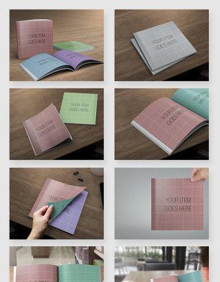画册书籍杂志周刊展示贴图样机素材