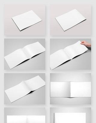 画册书籍空白样机模板PSD素材