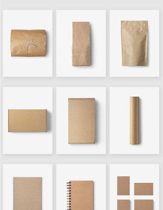 牛皮纸产品包装设计空白模板样机
