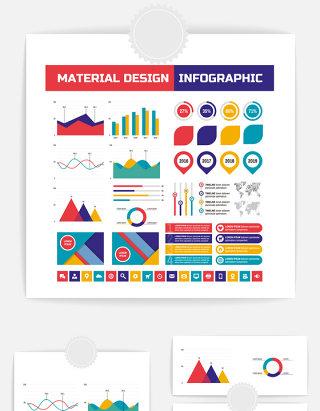 信息数据图表元素素材