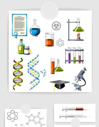 矢量科学化学实验素材