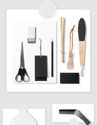 理发店品牌产品设计贴图样机素材