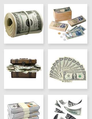 不规则图形纸币设计素材