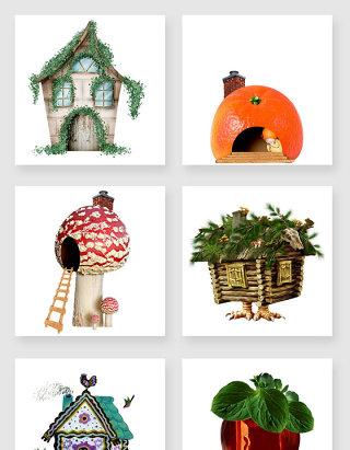 水果房子蘑菇房鬼屋