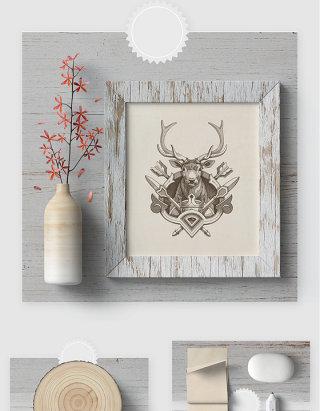 北欧风格室内装饰品贴图样机素材