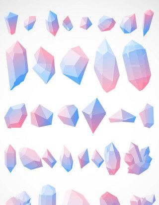 彩色水晶石图标矢量图形