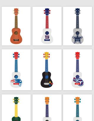 创意电吉他插画矢量图形