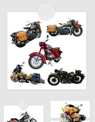 高清免抠复古摩托车