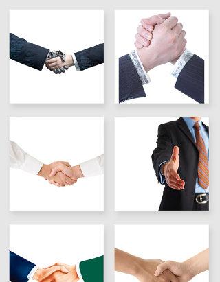 商务人士握手设计元素