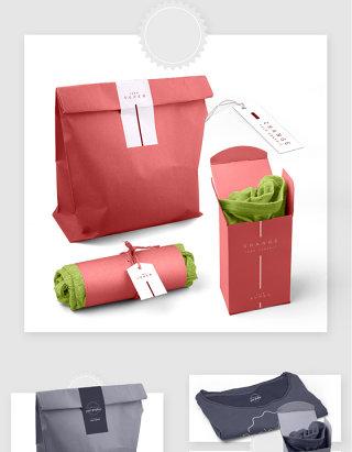 品牌服装产品包装设计贴图样机素材