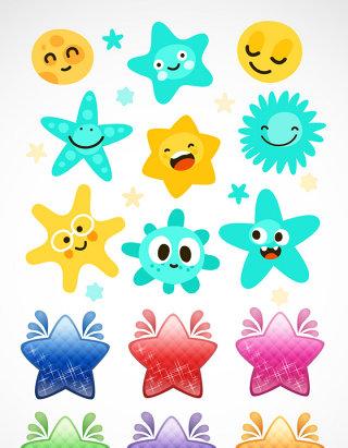 可爱创意星星矢量素材