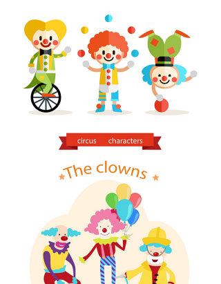 愚人节小丑矢量图
