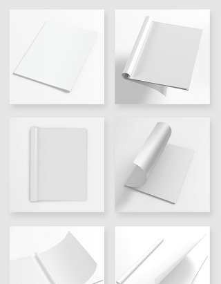 白色画册书籍手册空白模版样机素材