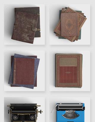 复古书籍打字机高清psd素材