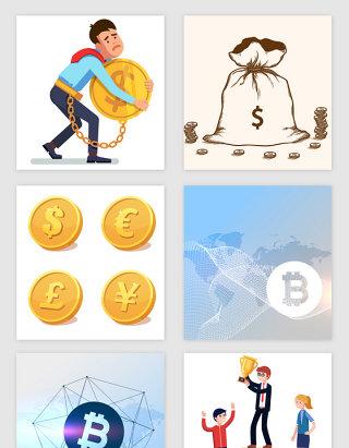 商务金融货币矢量素材