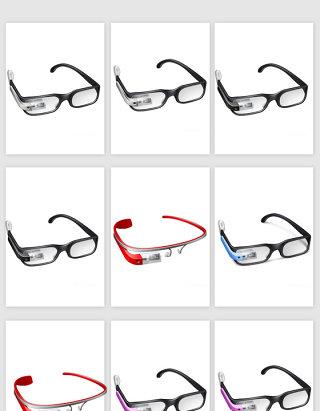眼镜素材矢量设计