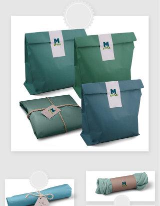 服装包装袋设计智能贴图样机素材