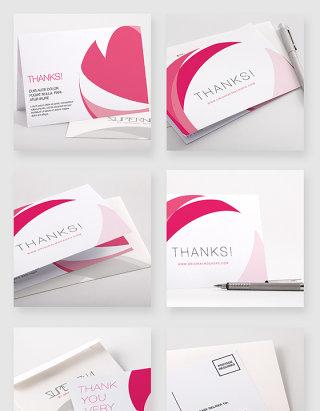 感谢信贺卡信纸设计贴图样机素材