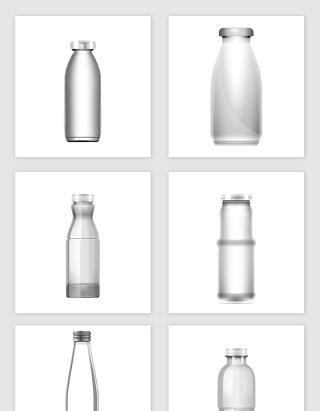手绘卡通矢量玻璃瓶设计素材