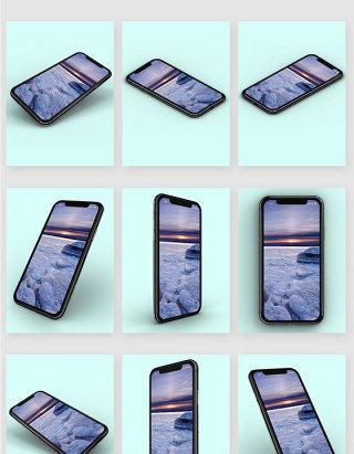 九宫格苹果iphonex模型样机