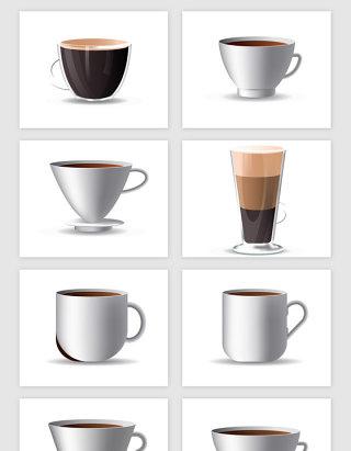 3D咖啡杯模型矢量素材