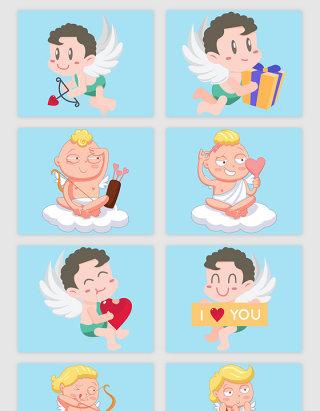 情人节创意的天使矢量素材