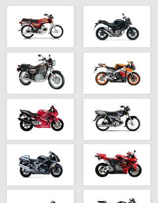 高清免抠摩托车素材