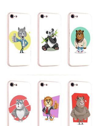 卡通动物手机壳元素