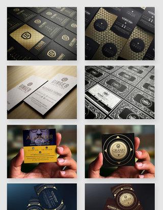 企业品牌行业名片设计PSD素材