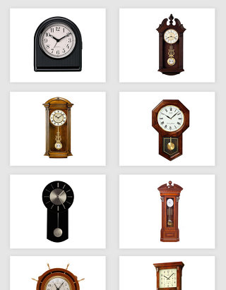 高清免抠座钟钟表素材