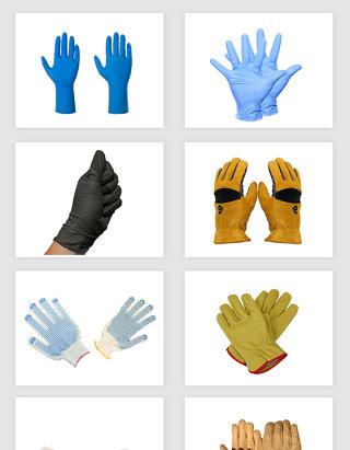 高清免抠医用手套工作手套